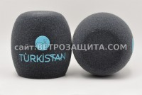 Windscreen for Sennheiser MD42 microphone with Turkistan TV logo