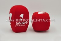 Windscreen for microphone SONY UTX-M40 with 1-TV Armenia logo